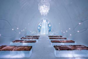 ICEHOTEL 29 Ceremony Hall Design Saito Shingo Natsuki Shingo. Photo Asaf Kliger